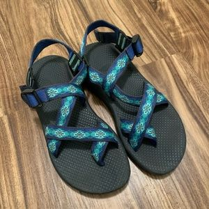 Chaco Woman's Blue Strappy Outdoor Sandals
